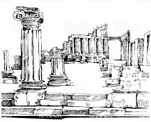 Historia del cemento: anfiteatro de Pompeya